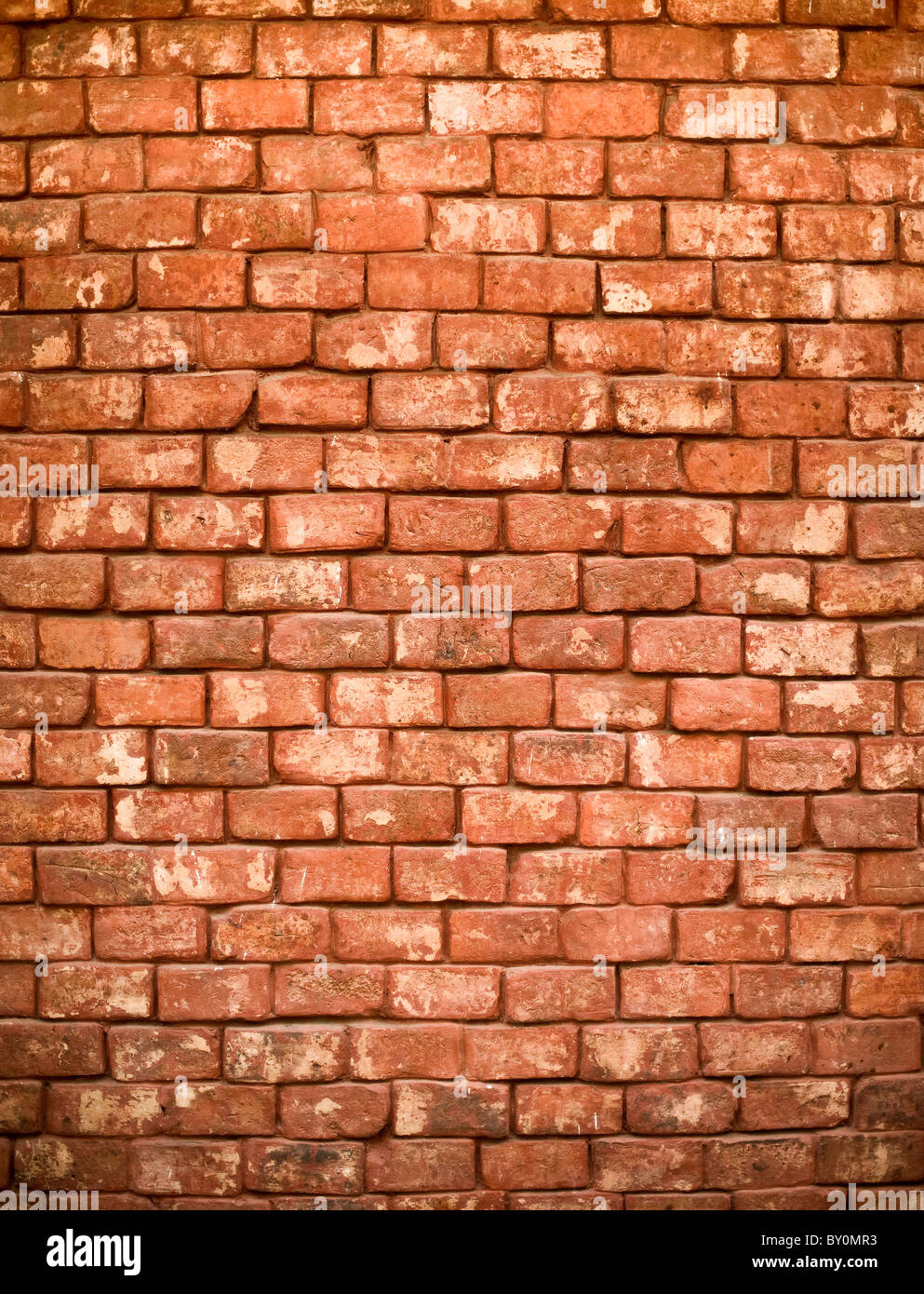 detail of a red brick wall - Stock Image