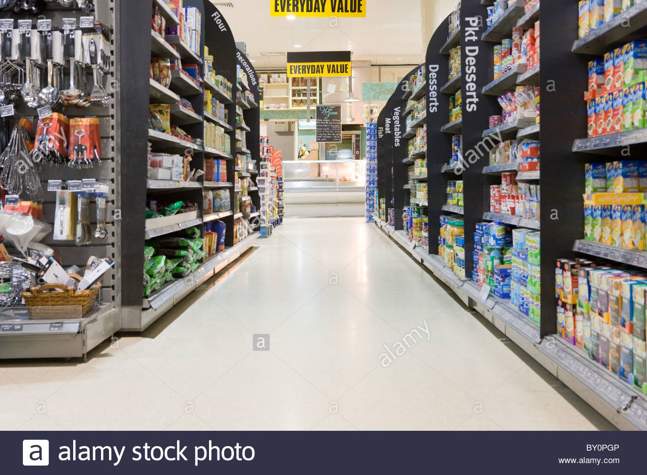 Supermarket Signs Aisle Stock Photos & Supermarket Signs