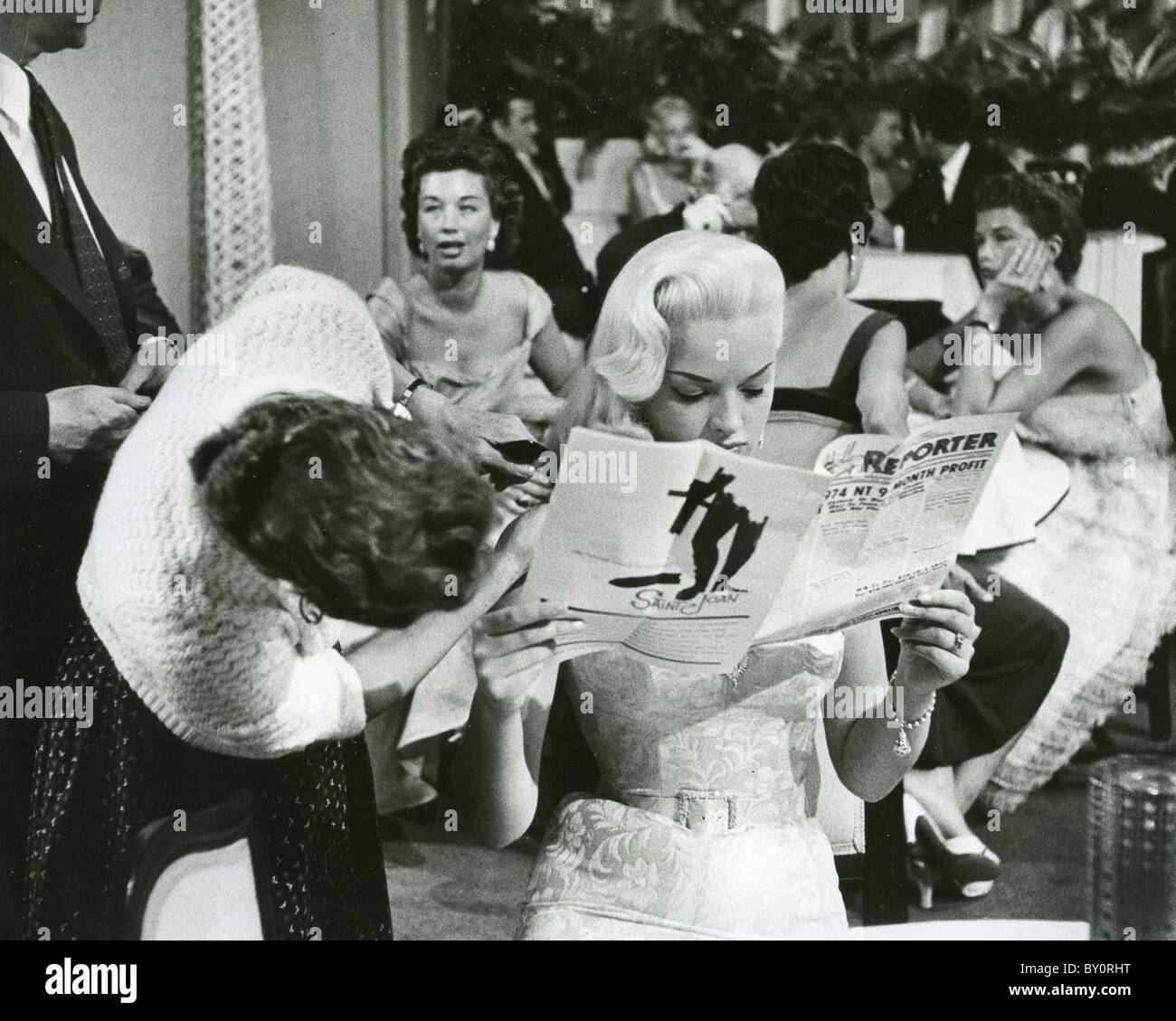 DIANA DORS  English actress while filming I Married A  Woman in 1956 in Hollywood - Stock Image