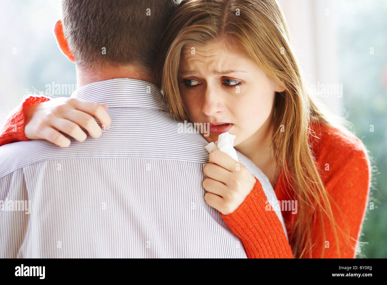 Couple hugging - Stock Image