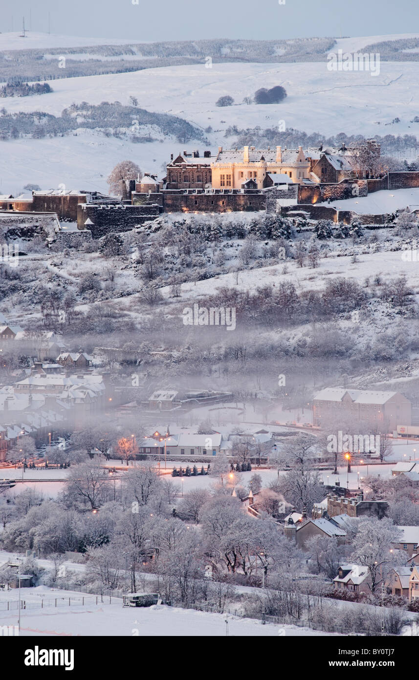 Stirling Castle in winter, City of Stirling, Scotland, UK - Stock Image