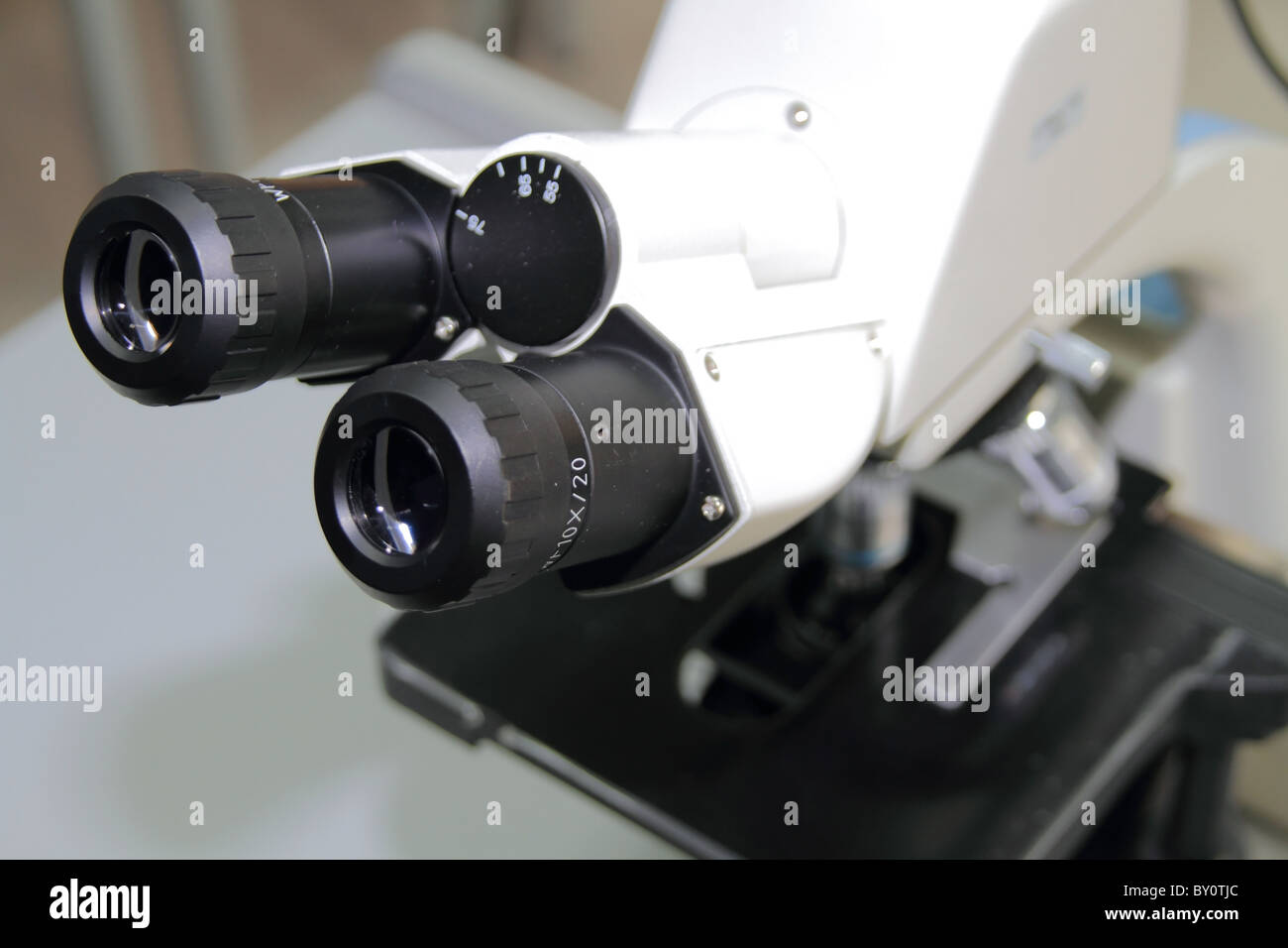 microscope in the laboratory - Stock Image
