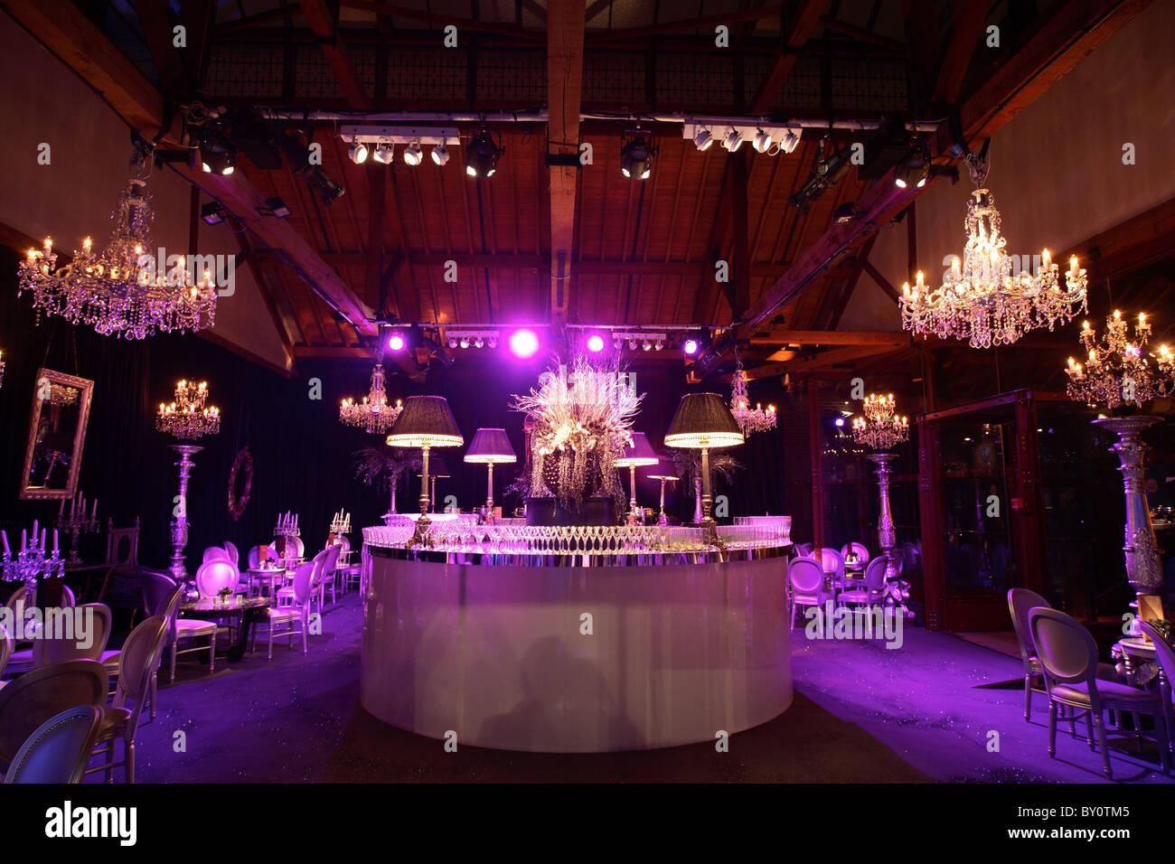 glamorous bar club interior - Stock Image