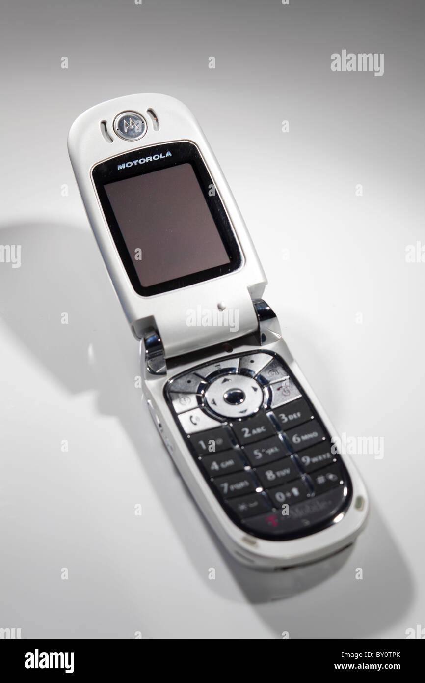 Motorola flip mobile phone closed v635 - Stock Image