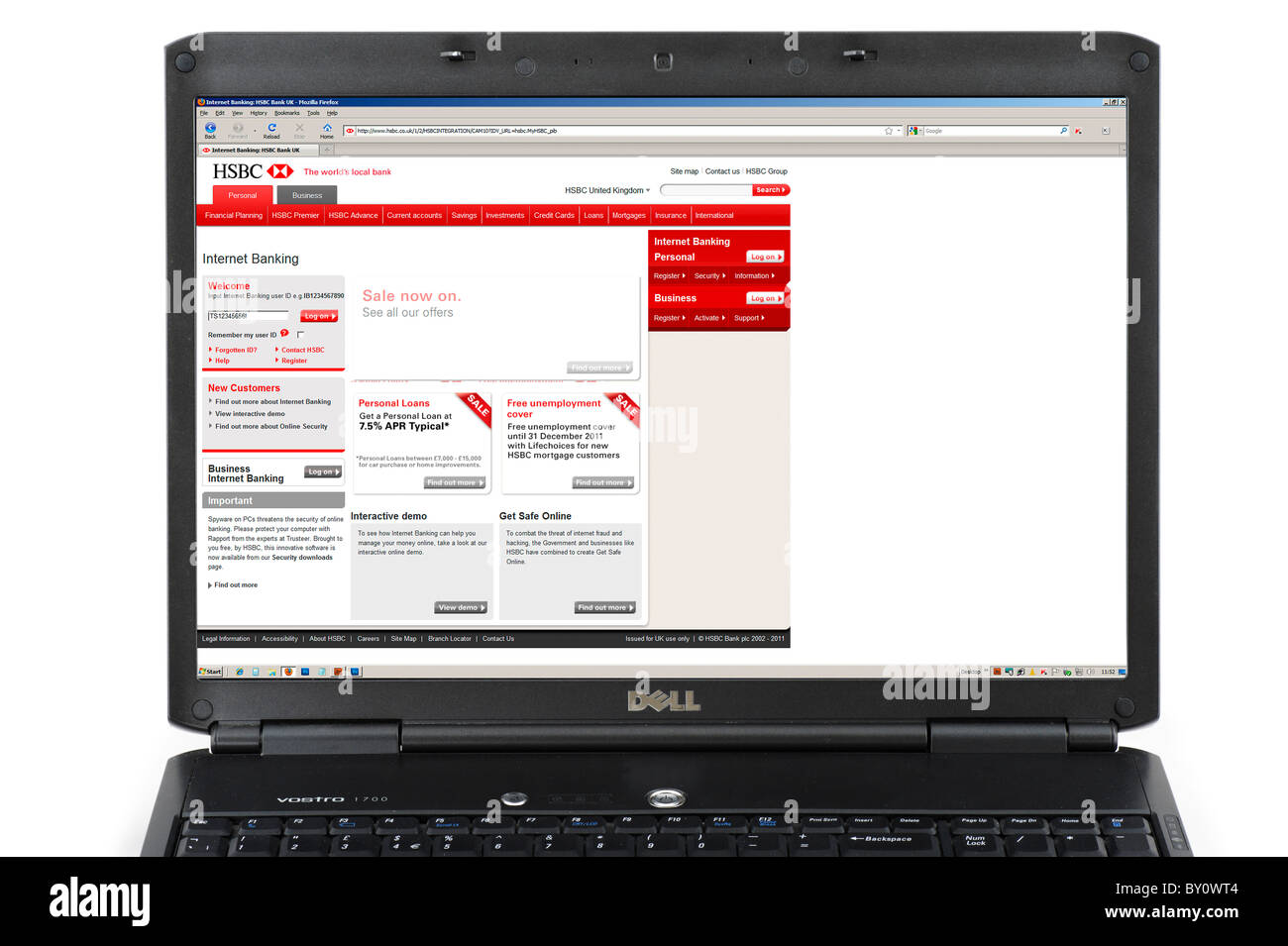 Logging on to hsbc online banking uk stock photo 33826356 alamy logging on to hsbc online banking uk reheart Gallery