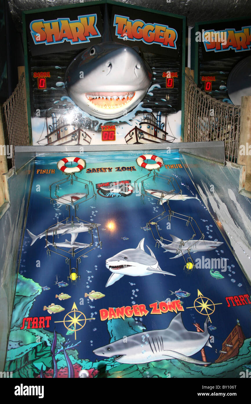 Shark Tagger Arcade Game - Stock Image