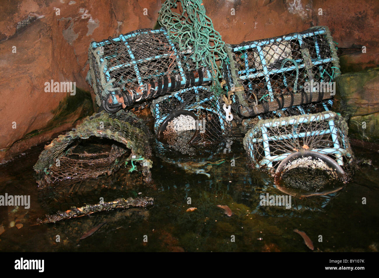 Collection Of Lobster Pots - Stock Image