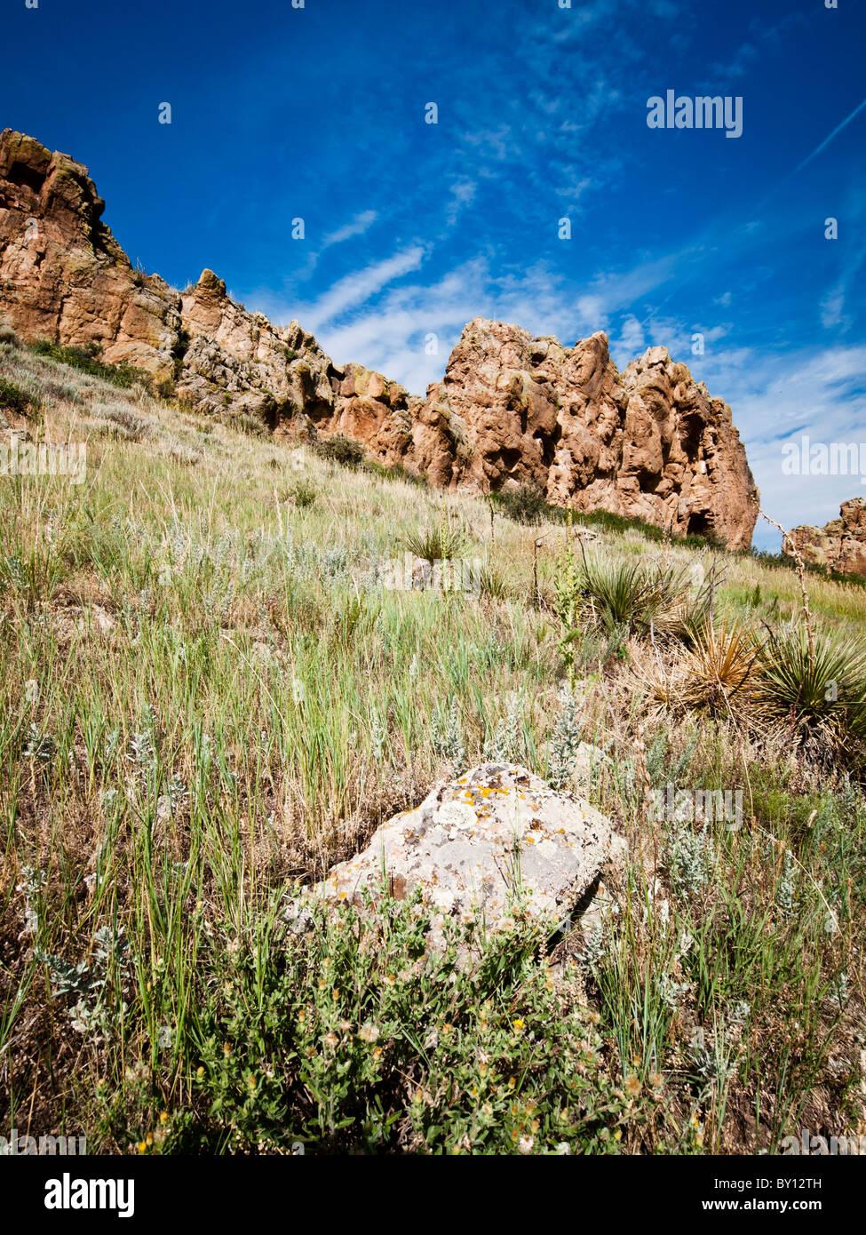 Rock formation in Devils Backbone, Loveland Colorado - Stock Image