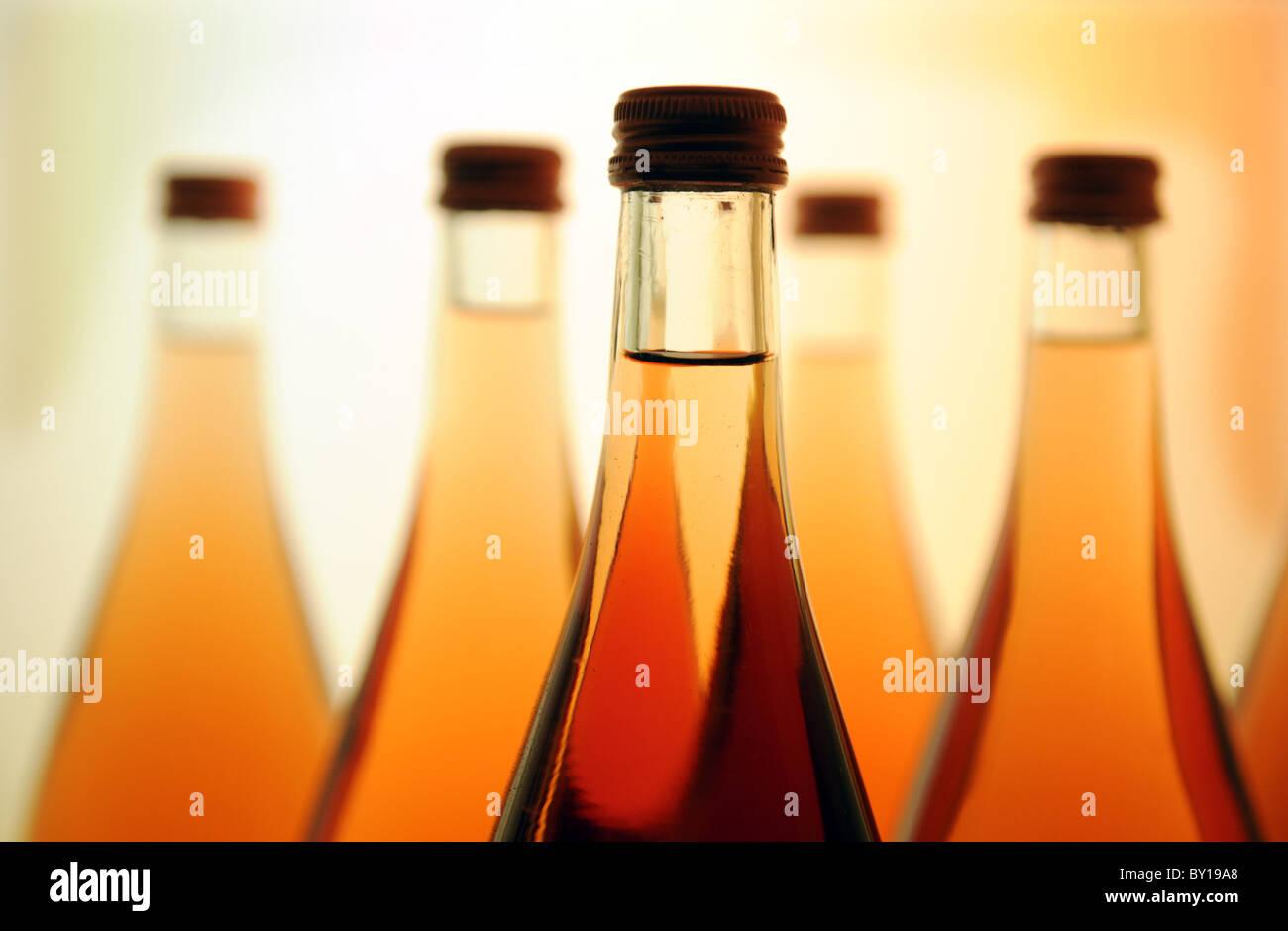 Bottles on a shelf Stock Photo