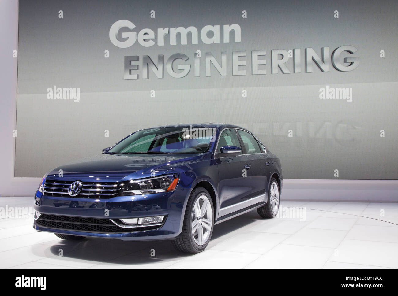 Detroit, Michigan - The 2011 Volkswagen Passat on display at the North American International Auto Show. - Stock Image
