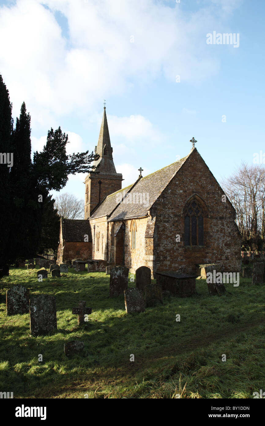 Parish Church of St Botolph, Farnborough, Warwickshire, England - Stock Image