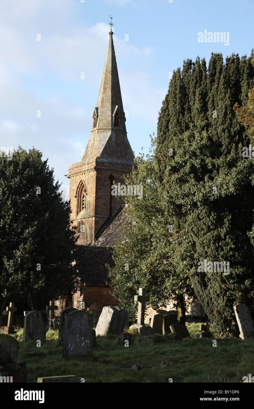 Parish Church of St Botolph, Farnborough Warwickshire, England - Stock Image