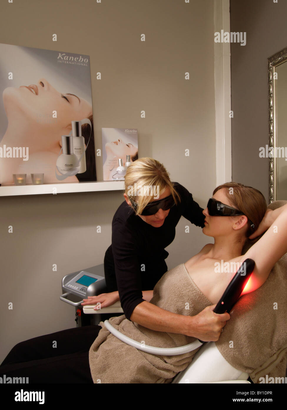 Armpit Hair Removal Using Ipl Or Intense Pulsed Lighting Stock Photo