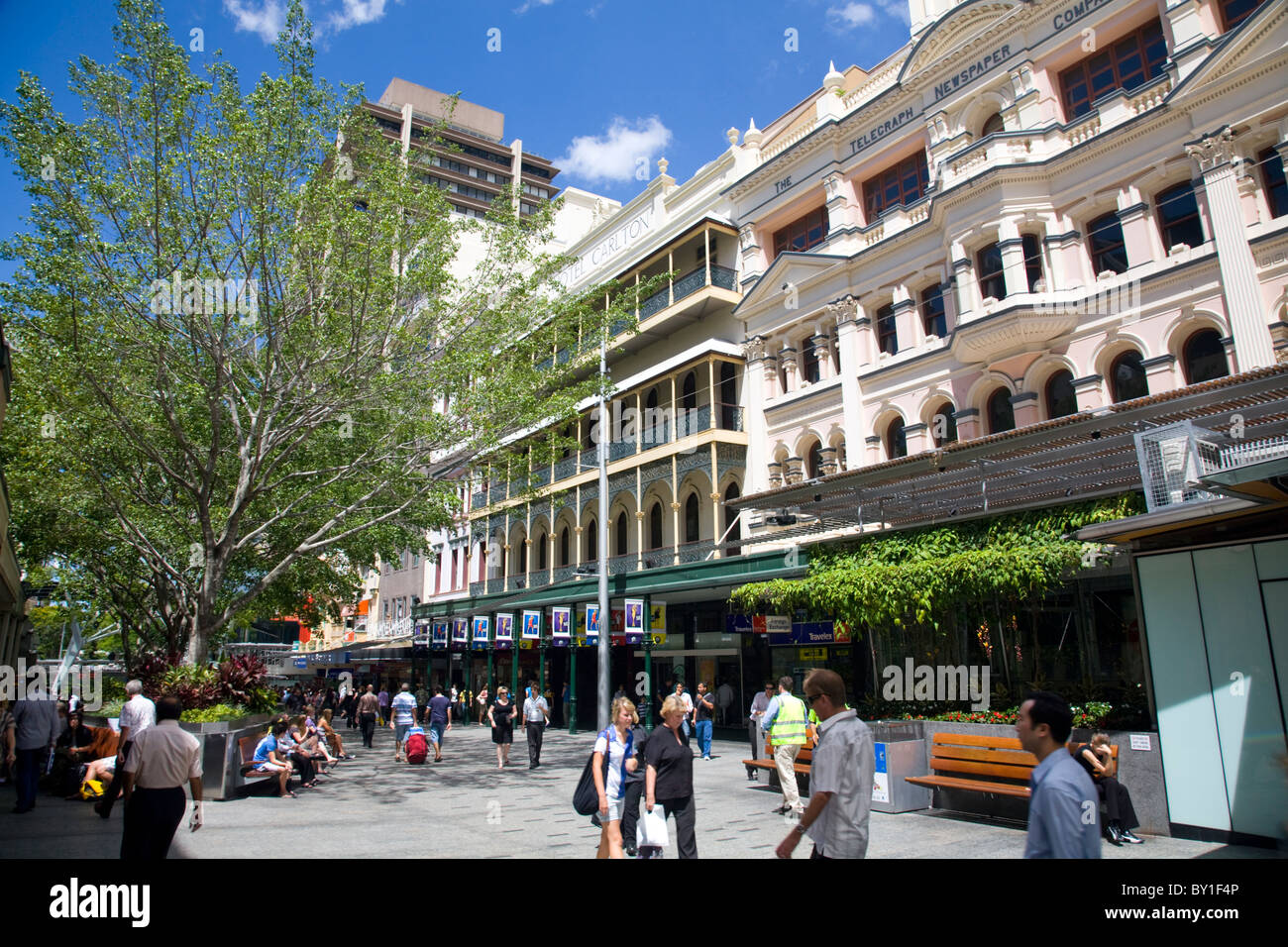 Retail shopping in Queen street,Brisbane city centre ,Queensland,Australia - Stock Image