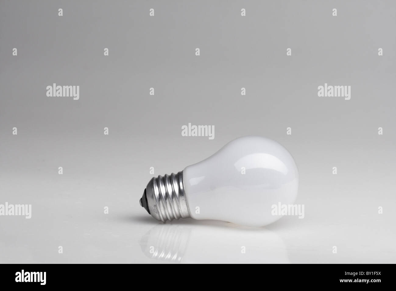 Background with lightbulb - Stock Image