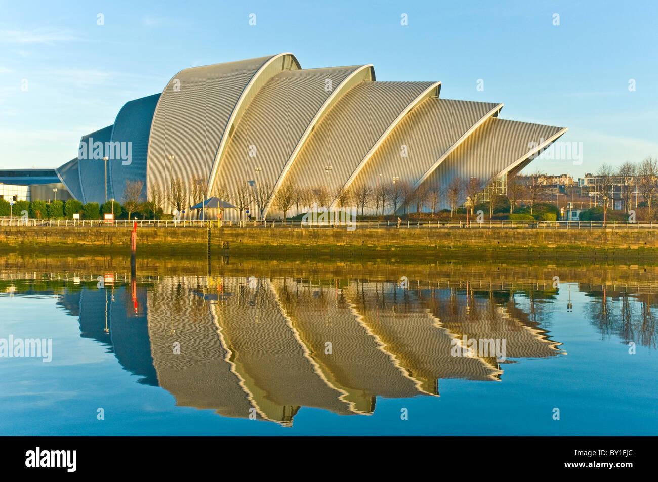 SECC Auditorium (Armadillo)  beside River Clyde Finnieston Glasgow Scotland - Stock Image