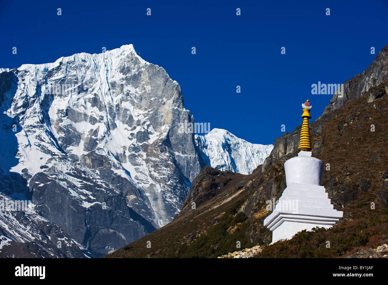 Asia, Nepal, Himalayas, Sagarmatha National Park, Solu Khumbu Everest Region, Unesco World Heritage, Thame, chorten - Stock Image