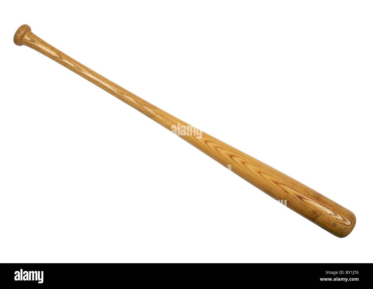 Baseball bat on white background - Stock Image