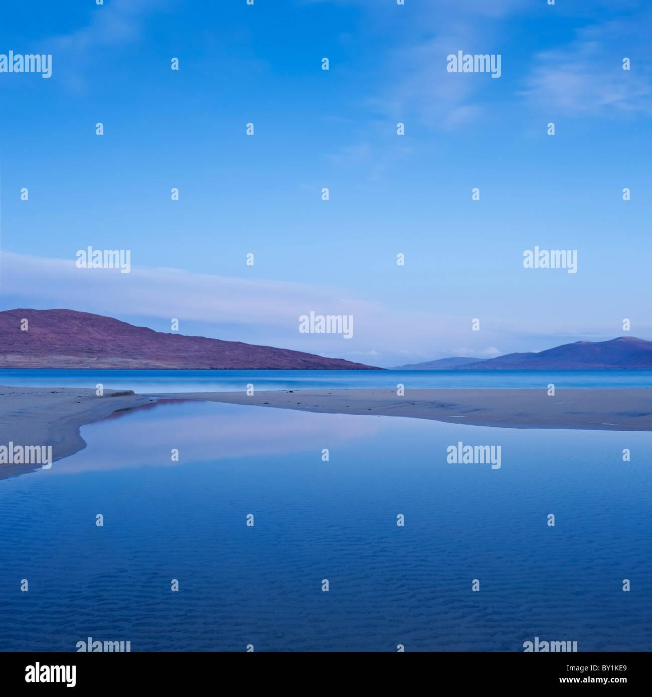 Morning light on Luskentyre beach, Isle of Harris, Western Isles, Scotland - Stock Image