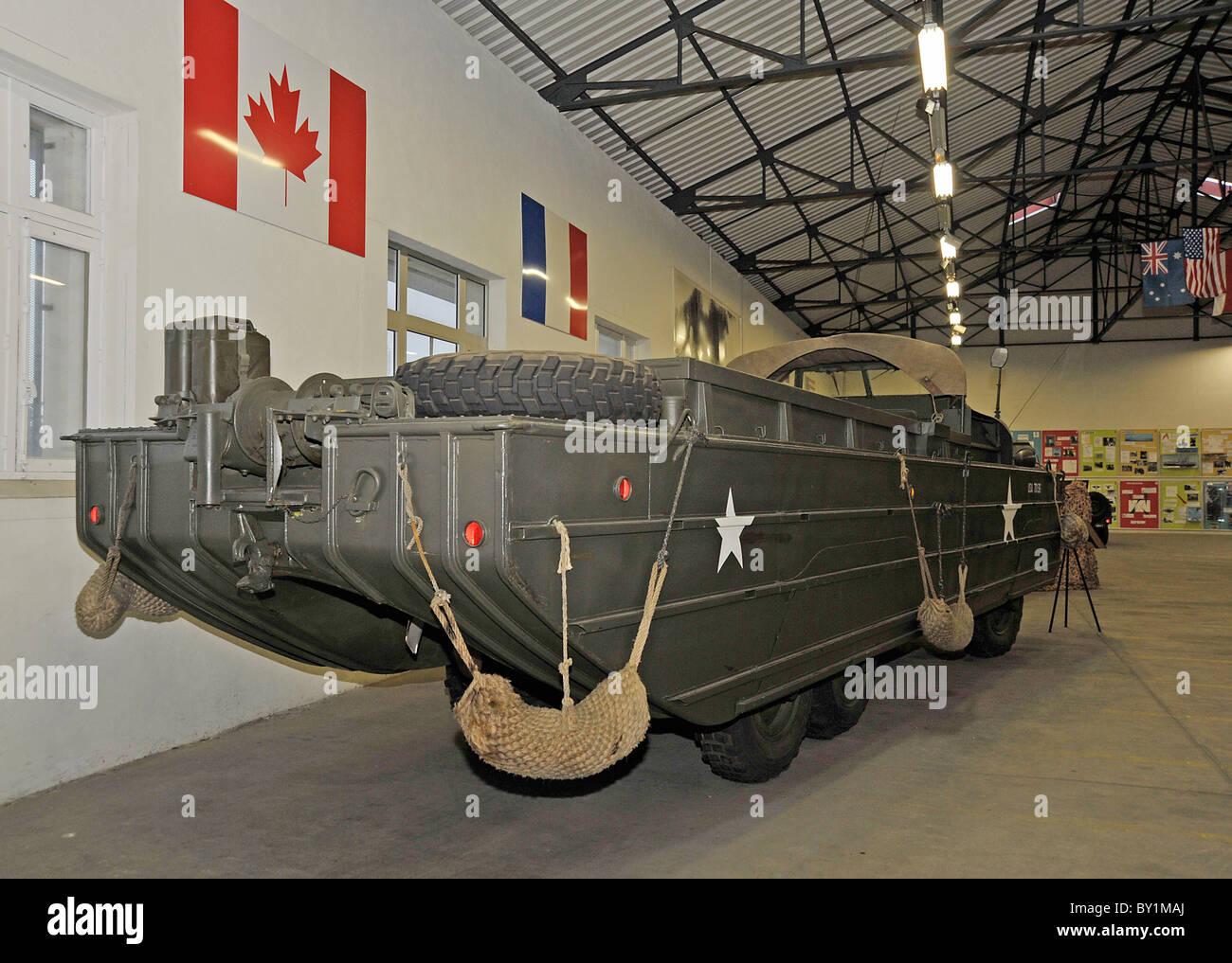 WW2 American amphibious troop carrier on display at Saumur ...