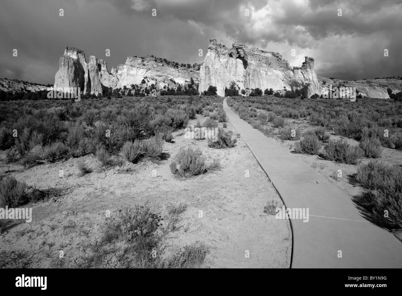 USA, Utah, Grand Staircase-Escalante National Monument.   Grosvenor Arch, A unique double sandstone arch located Stock Photo