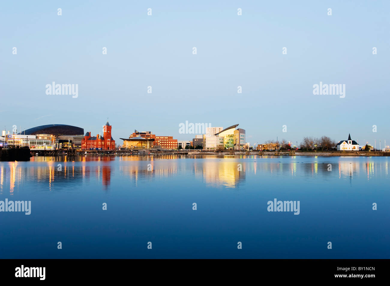Europe, UK, United Kingdom, Wales, Cardiff, Cardiff Bay, Millennium Centre, Pier Head, Welsh Assembly Building, - Stock Image