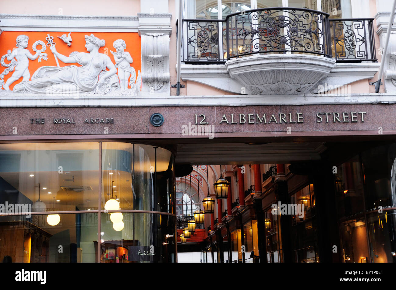 The Royal Arcade, Albemarle Street, Mayfair, London, England, UK - Stock Image