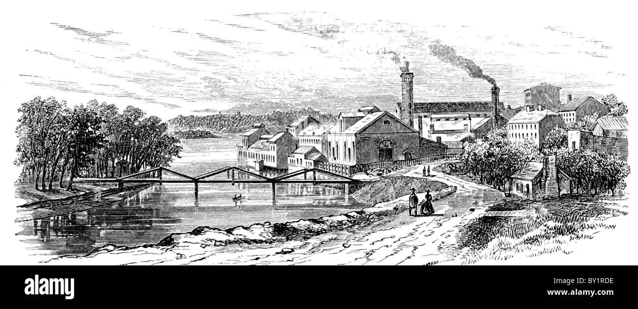 The most extensive Confederate maker and supplier was the Tredegar Iron Works (pictured here) in Richmond, Virginia. - Stock Image