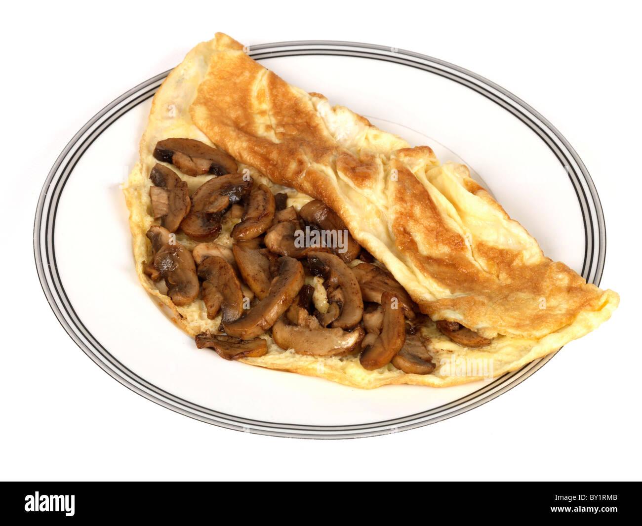 Mushroom Omelette - Stock Image