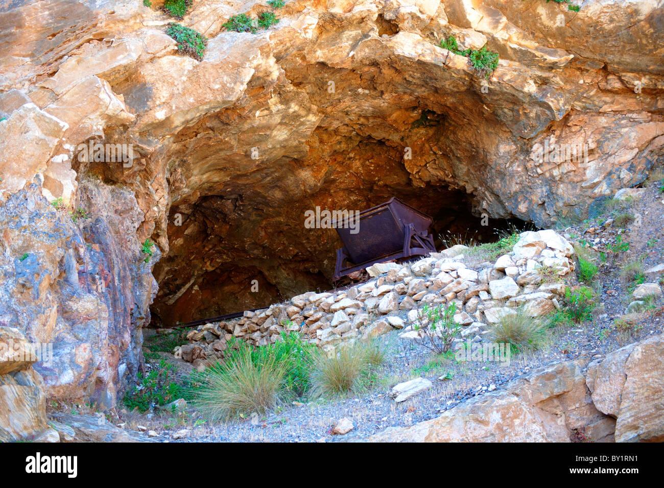 Old Emery mine on Naxos, Greek Cyclades Islands - Stock Image