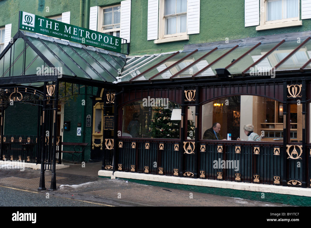 The Metropole Hotel, Llandrindod Wells, Powys, Wales UK - december 29 2010 - Stock Image