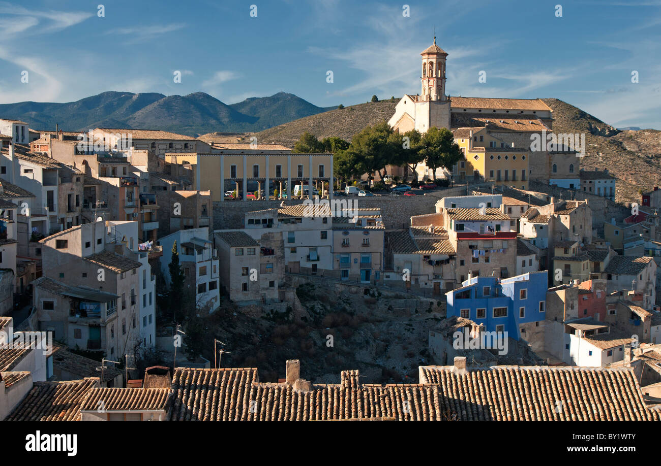 Cehegín is a town and municipality in the province Murcia, showing the Church of Santa María Magdalena - Stock Image