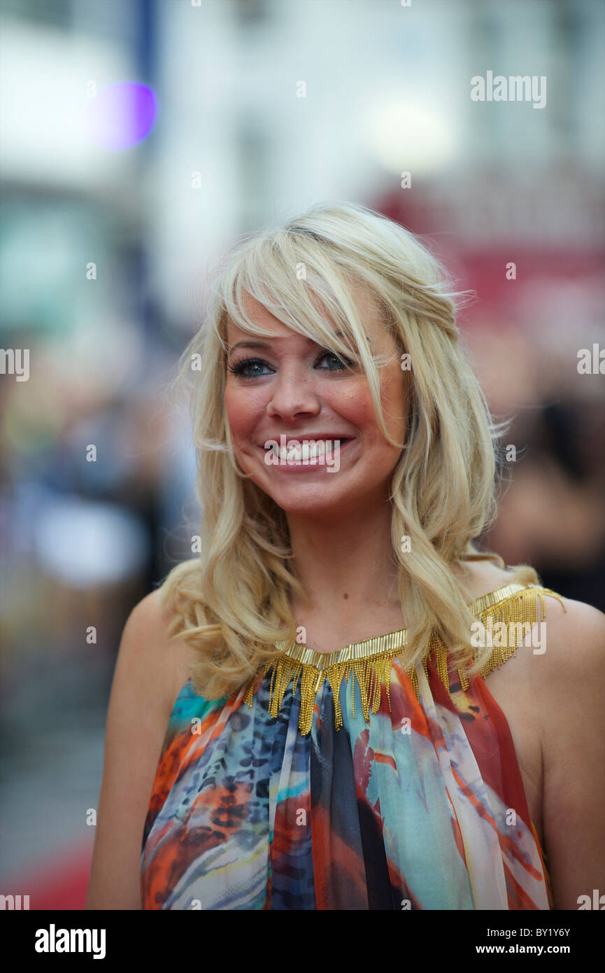 Singer Liz McClarnon arrives for the premiere of 'The Expendables,' on Monday night, August 9, 2010, at - Stock Image