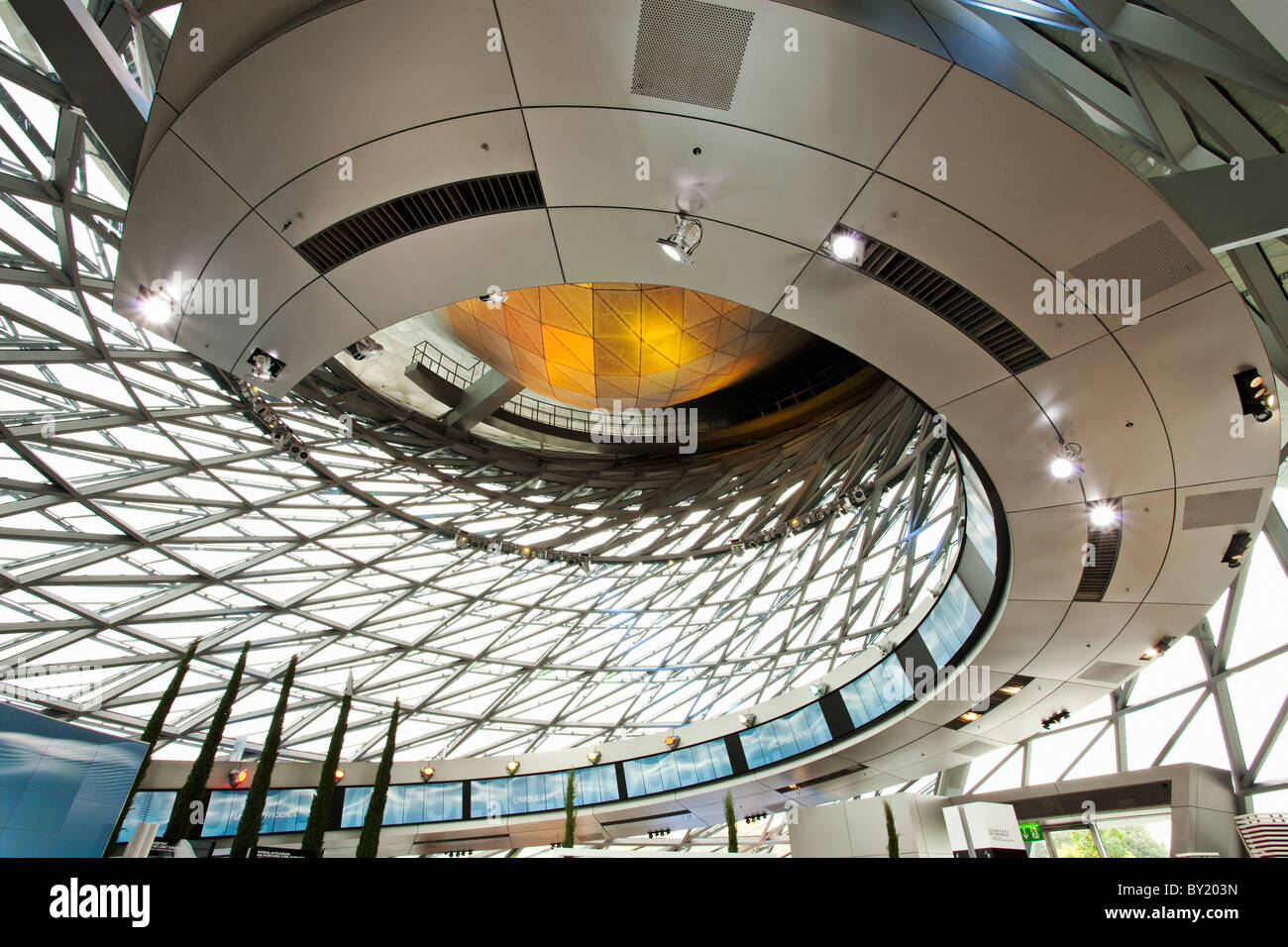 Germany,Bavaria,Munich, BMW Museum, architectural detail - Stock Image