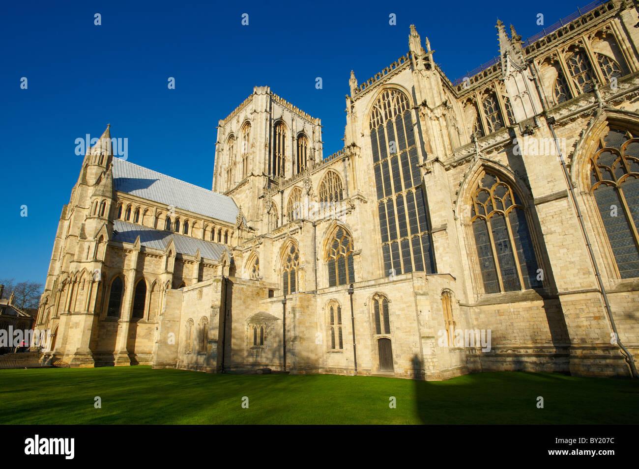 York Minster exterior, England - Stock Image