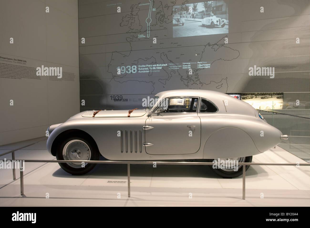 Germany,Bavaria,Munich, BMW Museum, BMW 328 Mille Miglia - Stock Image