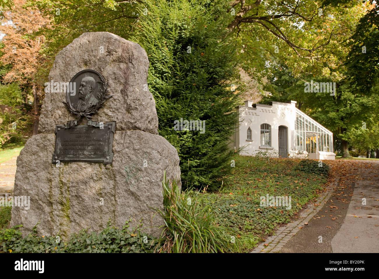 Germany,Cannstatt, Gottlieb Daimler's villa Taubenheimstrasse, garden house workshop 1882 Stock Photo