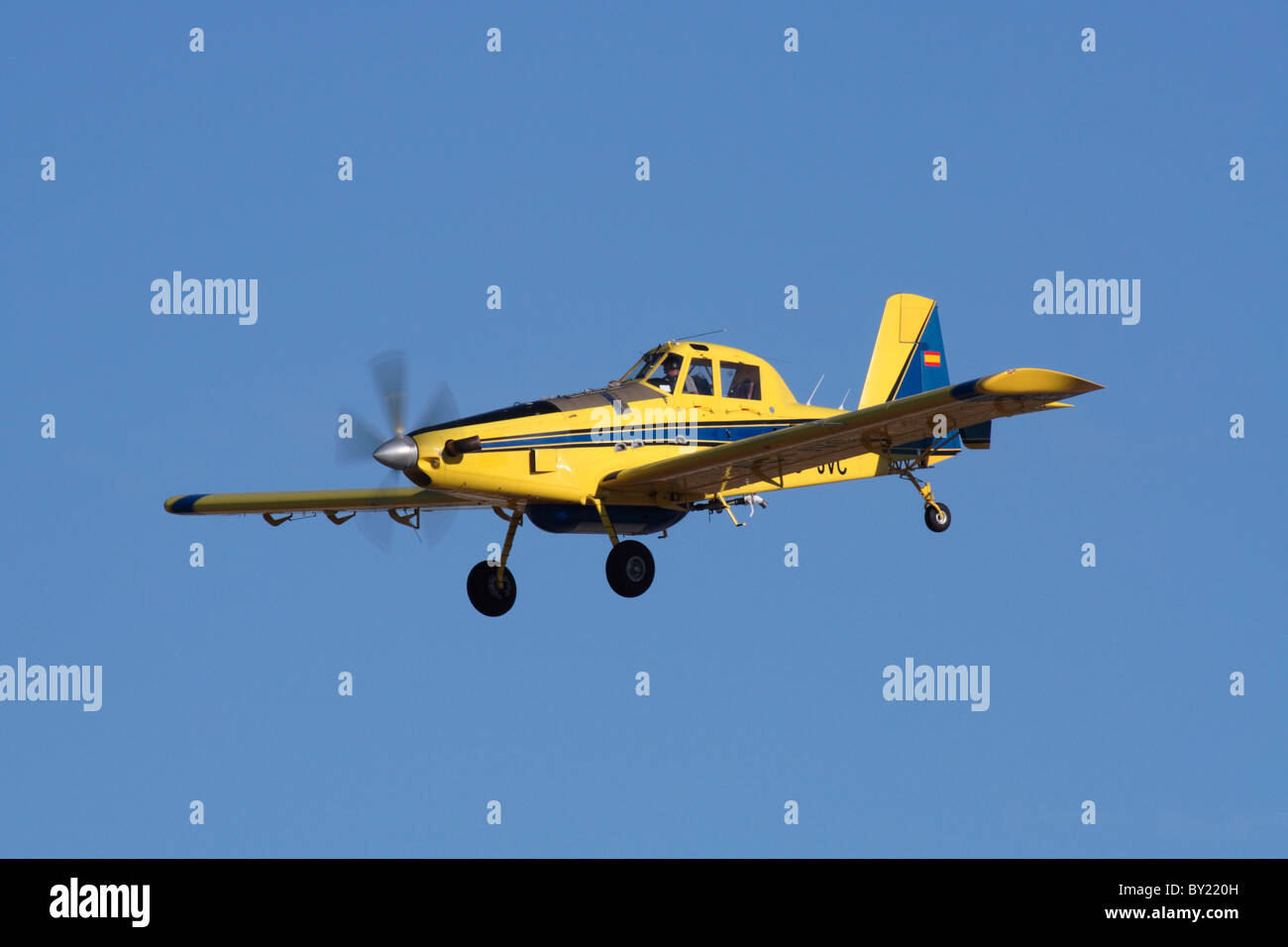 Air Tractor AT-802 firefighting and crop-dusting aircraft - Stock Image
