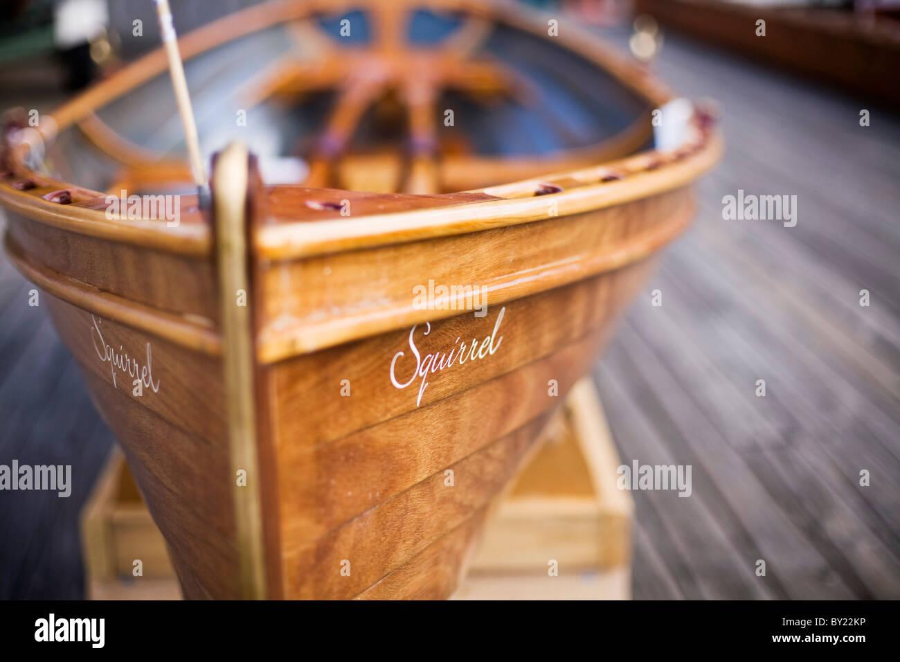 Australia Tasmania Hobart Sullivans Cove Detail Of A Wooden Boat