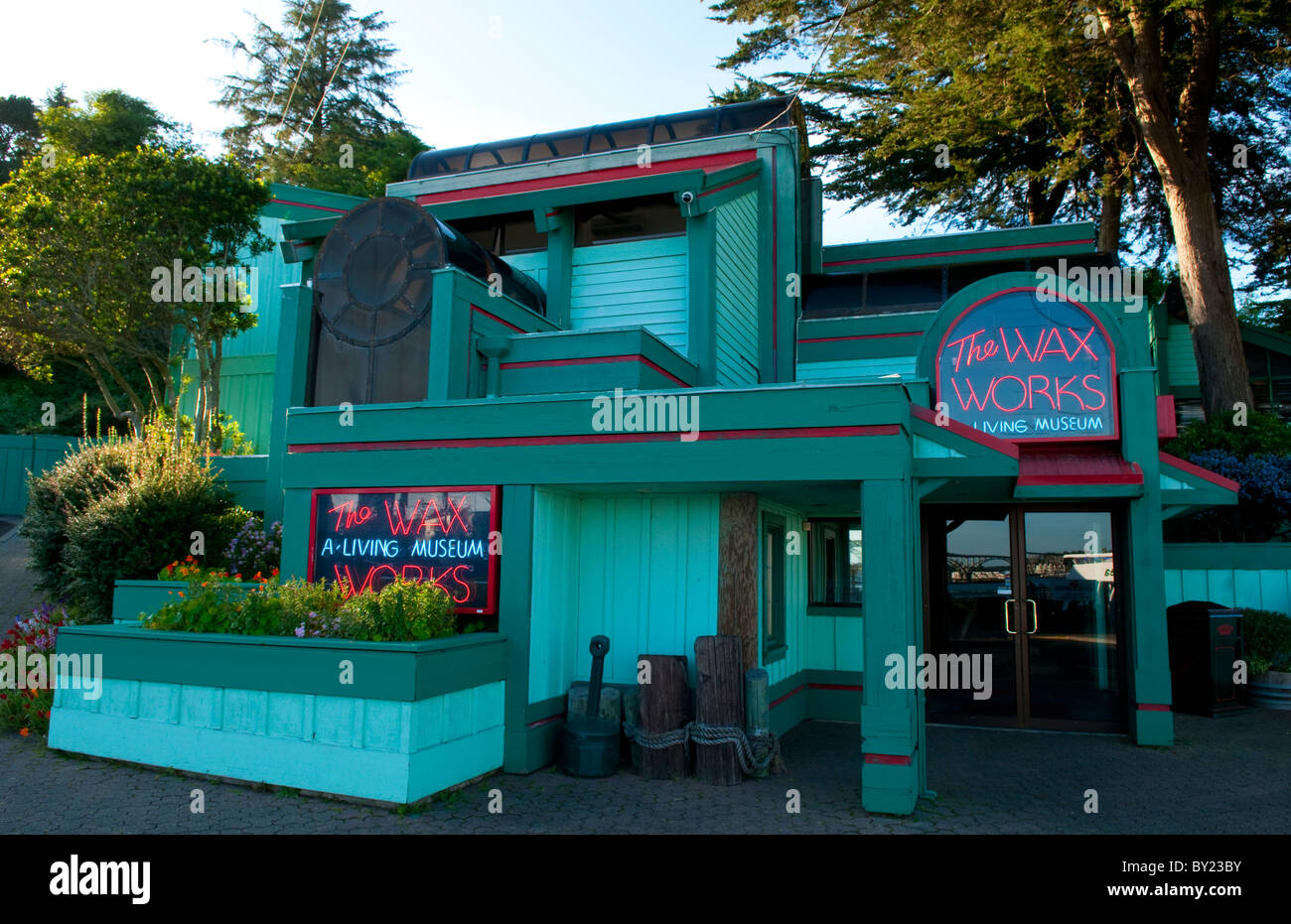 Newport Oregon on Oregon Coast attraction called The Wax Works part of Ripley's Museum - Stock Image