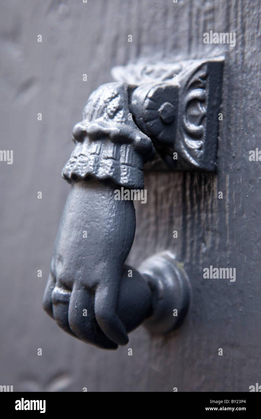 France, Haute-Garonne, Revel.  Traditional door handle, Revel. - Stock Image