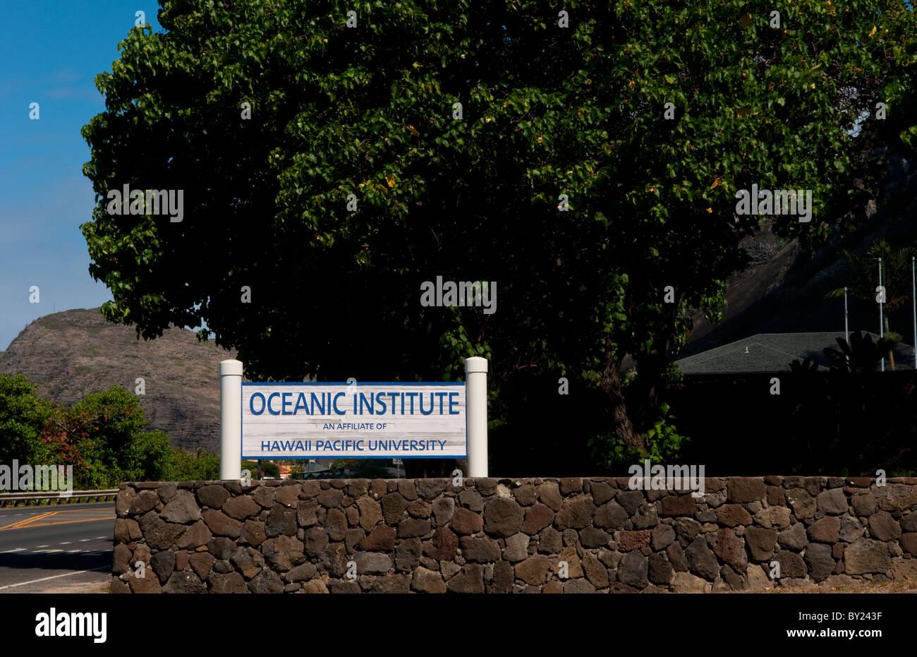 Hawaii Honolulu Oceanic Institute of Hawaii Pacific University - Stock Image