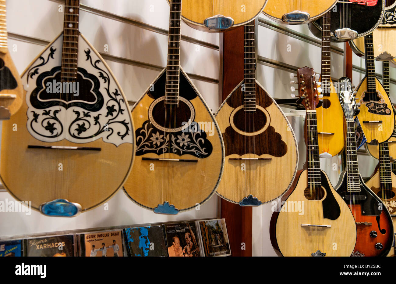Bouzouki Store Plaka Downtown Athens Greece Music Instrument