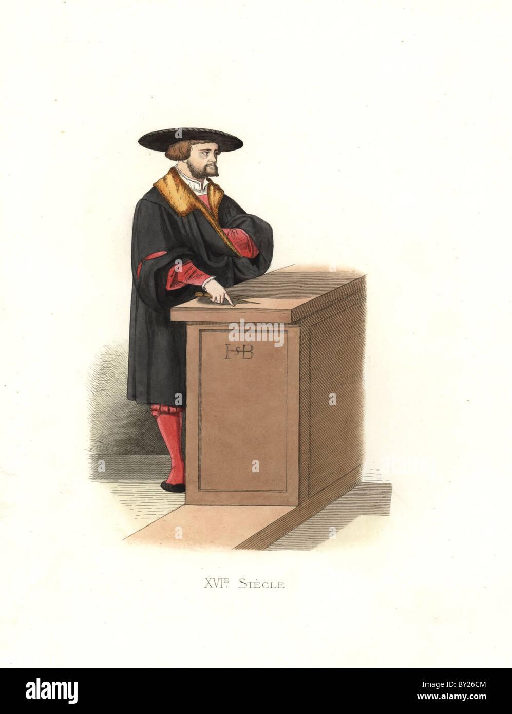 Hans Sebald Beham (1500–1550), German printmaker, engraver, painter and miniaturist. - Stock Image