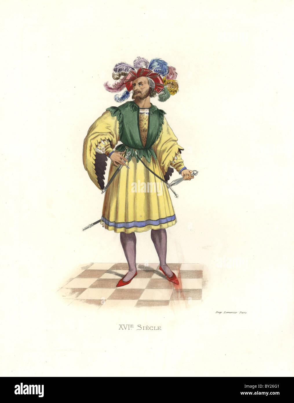 Patrician of Nuremburg, 16th century. - Stock Image