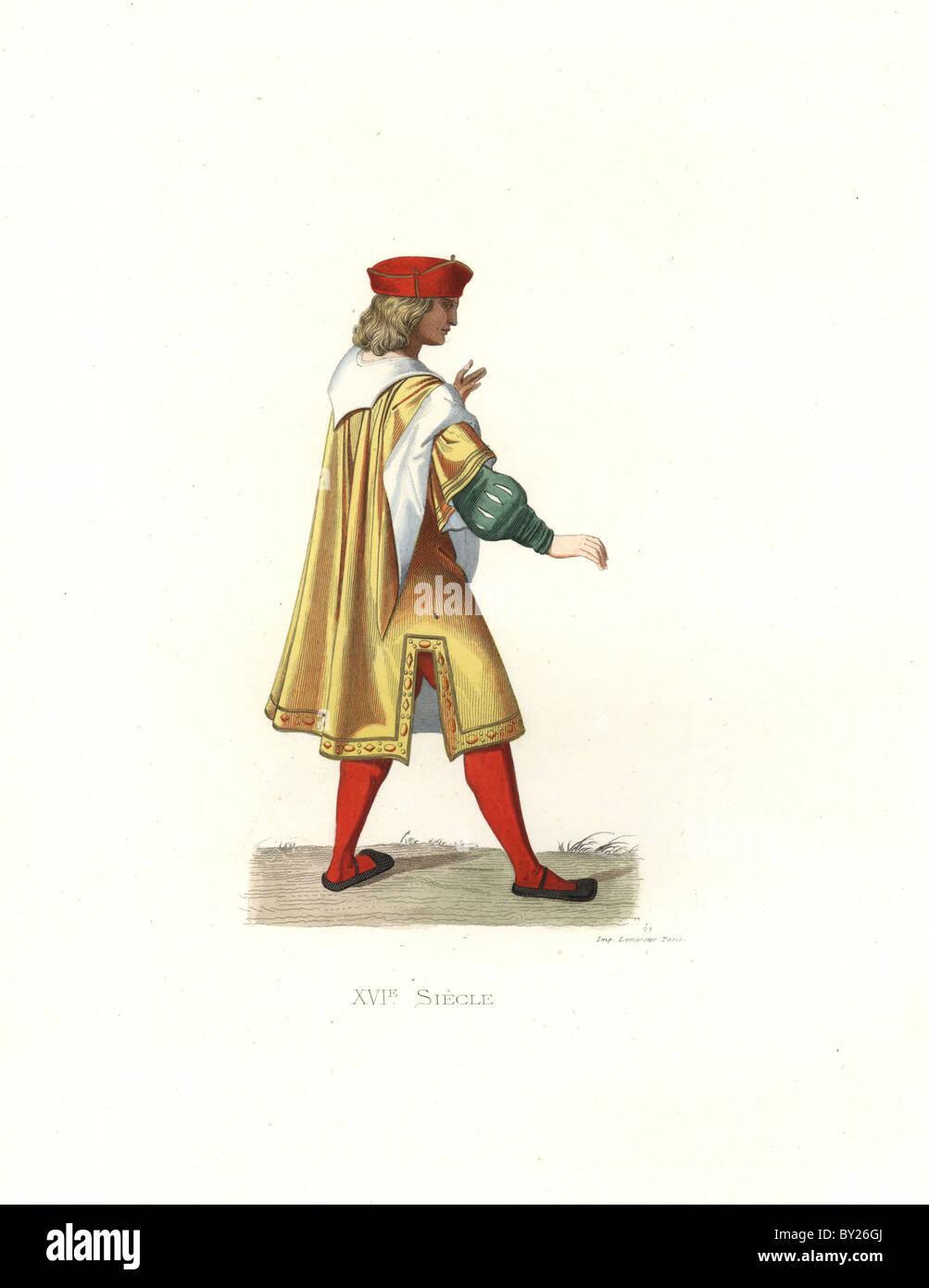 French merchant, 16th century. - Stock Image