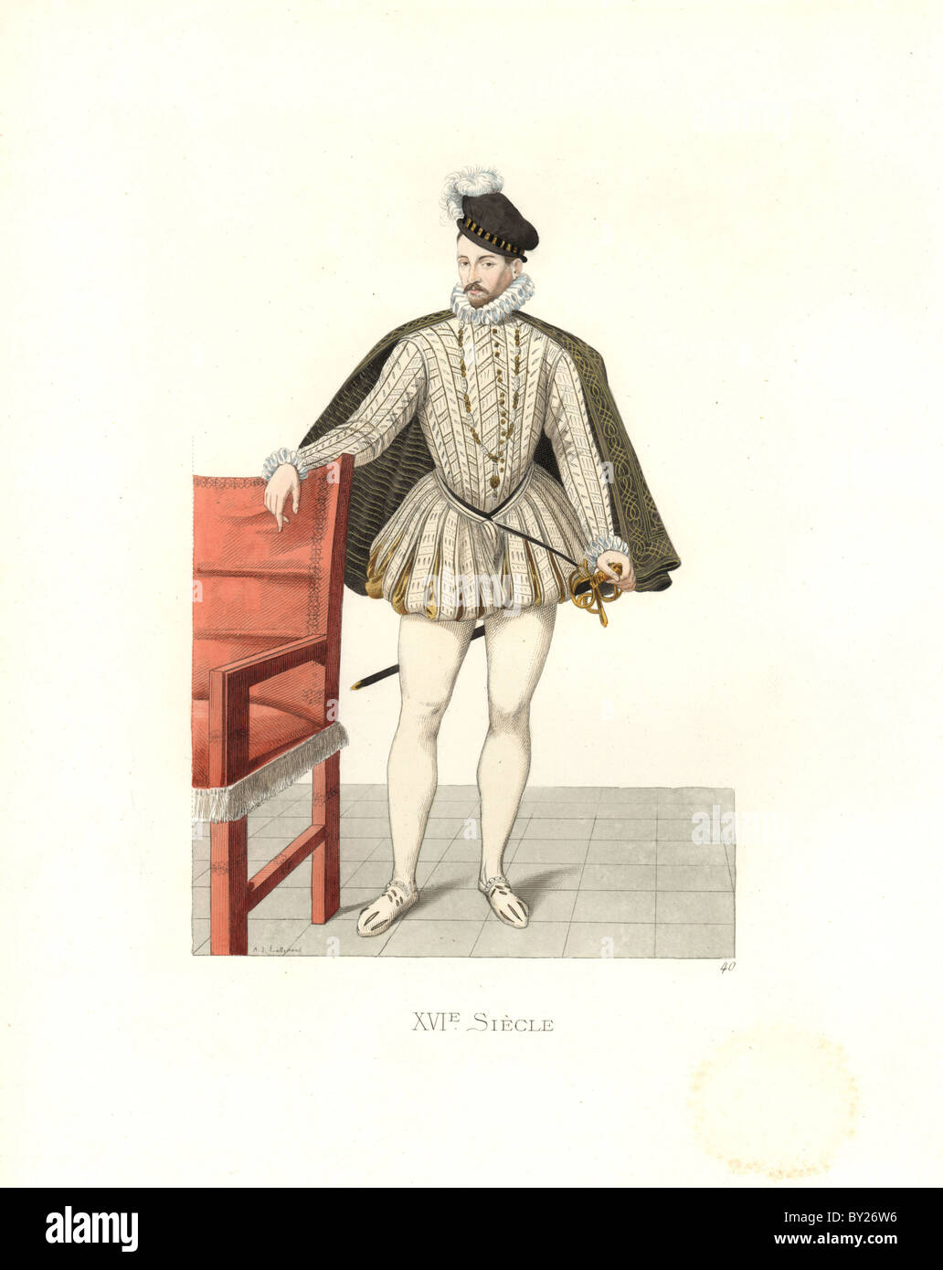King Charles IX of France (1550-1574) - Stock Image