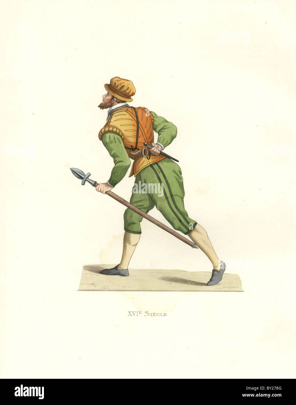 Hunter at the time of Charles IX of France. - Stock Image
