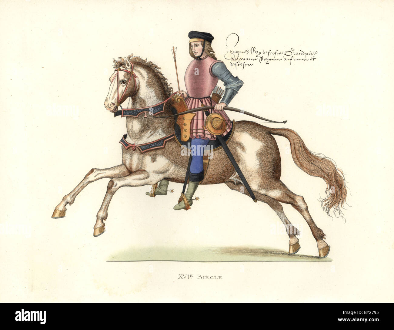King James IV of Scotland (1473-1513) on horseback - Stock Image