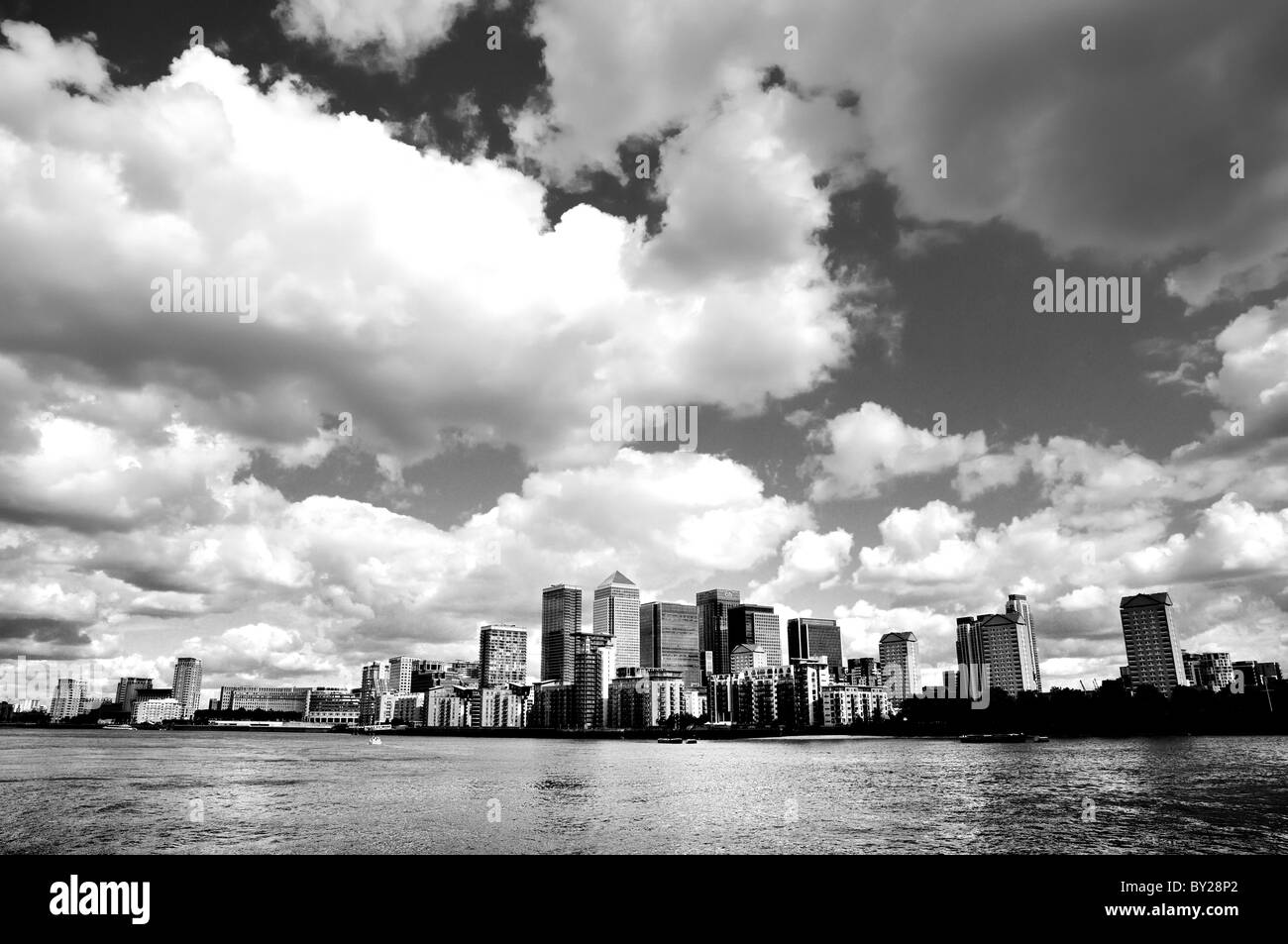 Canary Wharf London Docklands - Stock Image